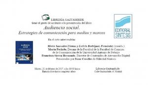 INVITACION LIBRO AUDIENCIA SOCIAL BEATRIZ SANJURJO REBOLLO